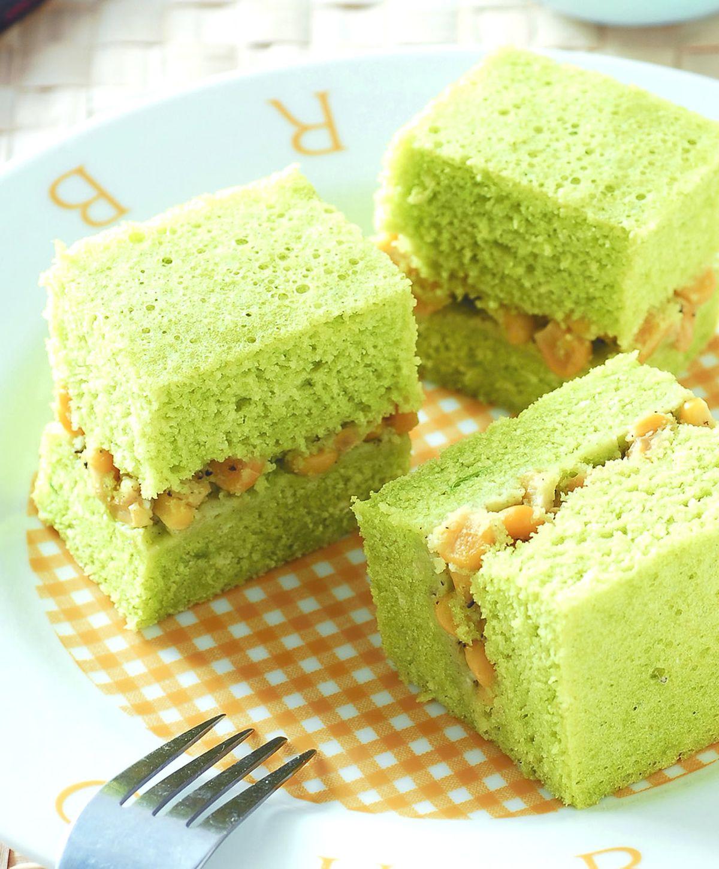 食譜:菠菜玉米鹹蛋糕