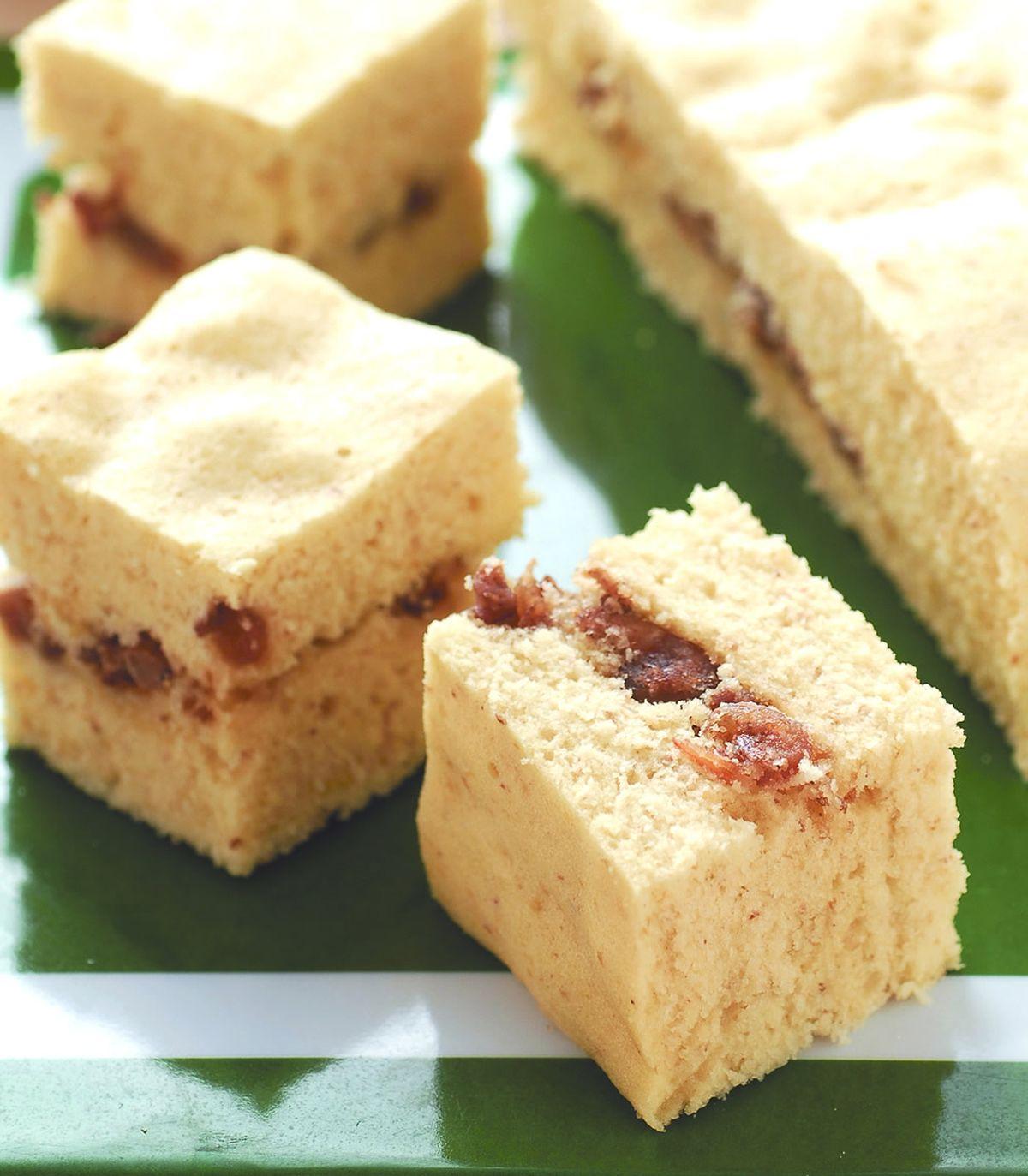 食譜:胚芽五香蝦米鹹蛋糕