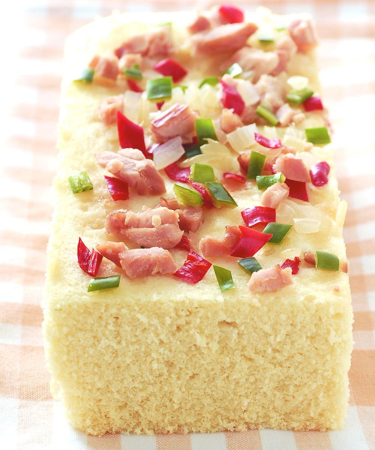 食譜:燻雞肉鹹蛋糕