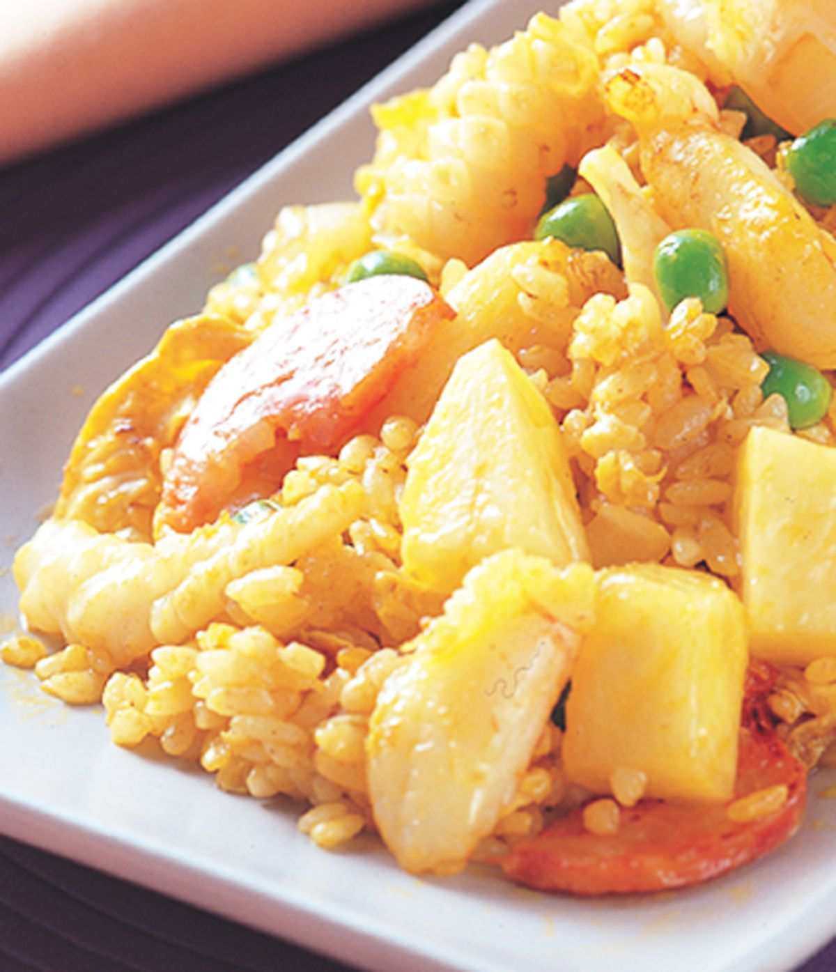 食譜:鳳梨海鮮炒飯