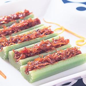 西芹干貝醬