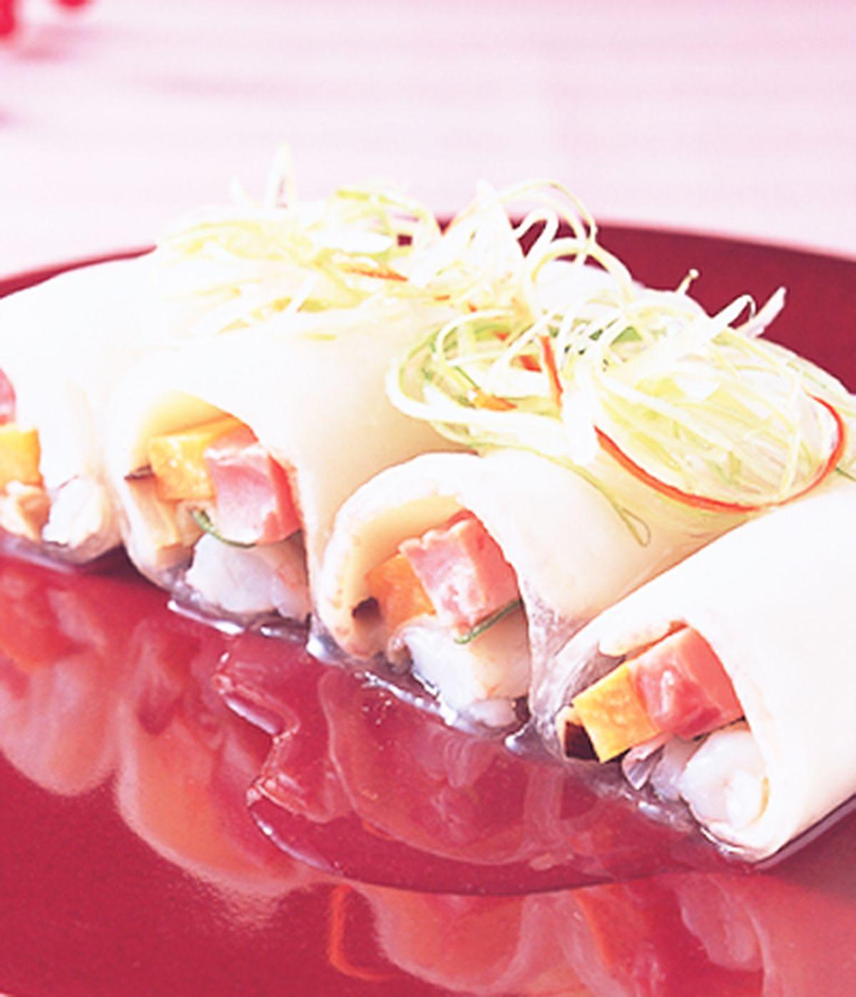 食譜:水晶鮑魚卷