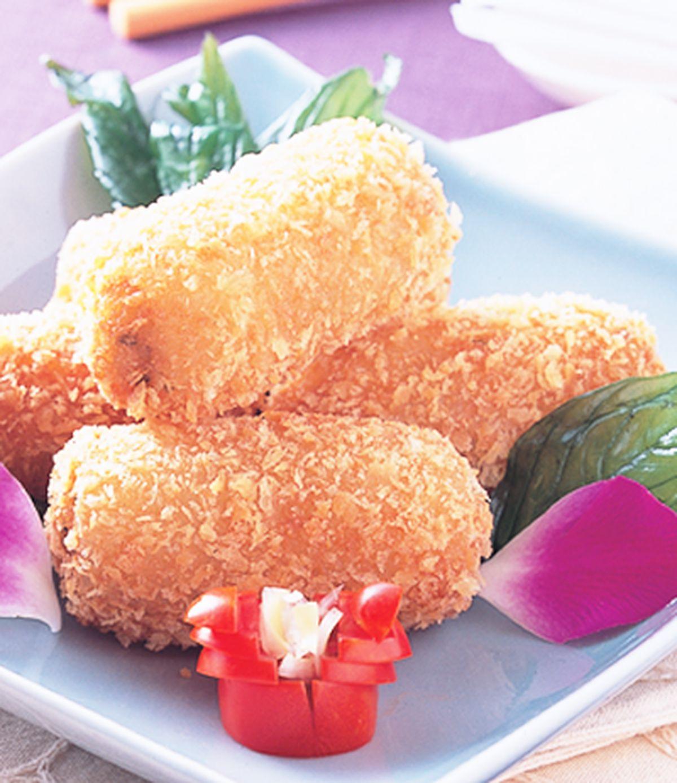 食譜:繡枕蝦卷