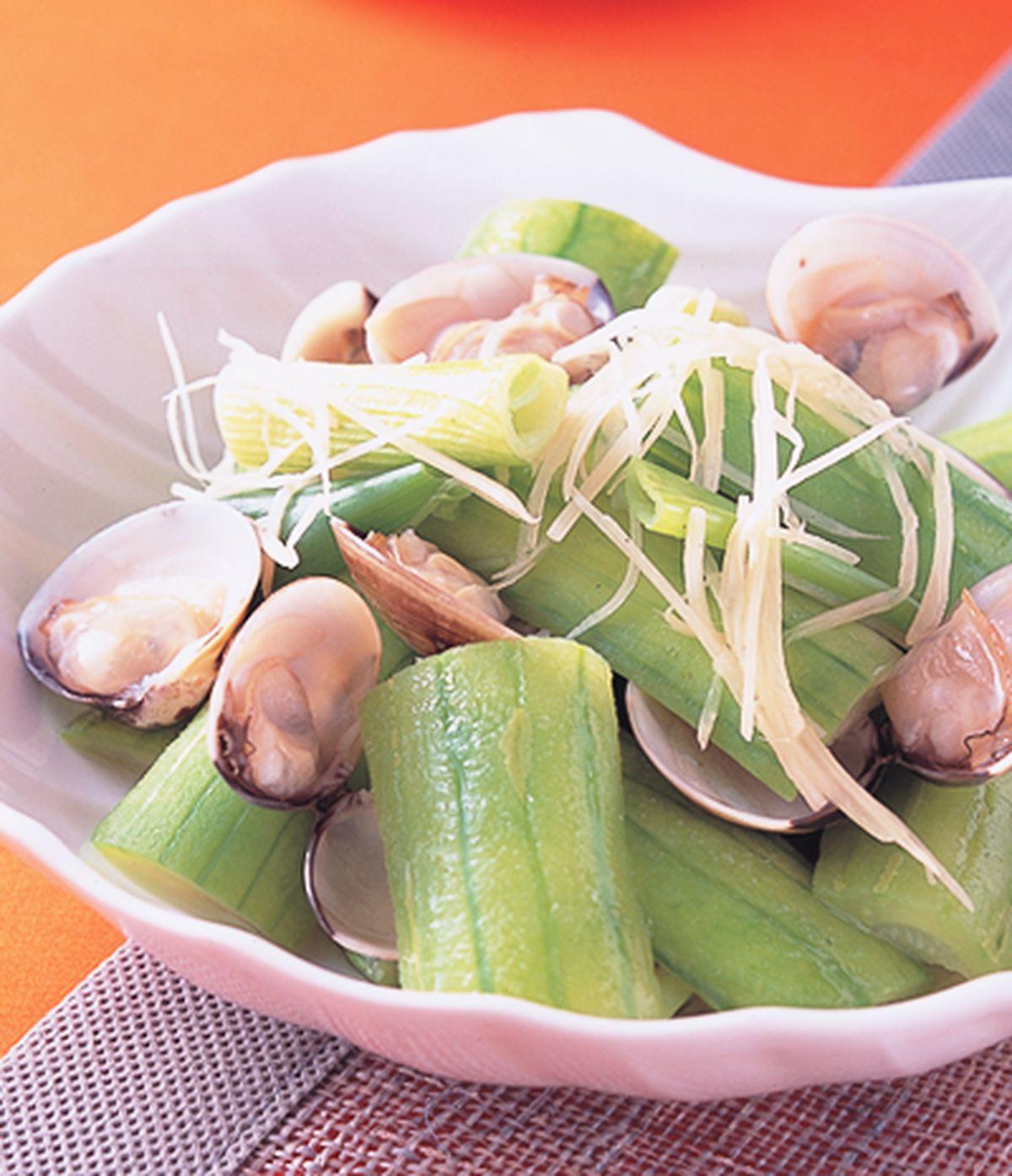 食譜:蛤蜊炒絲瓜