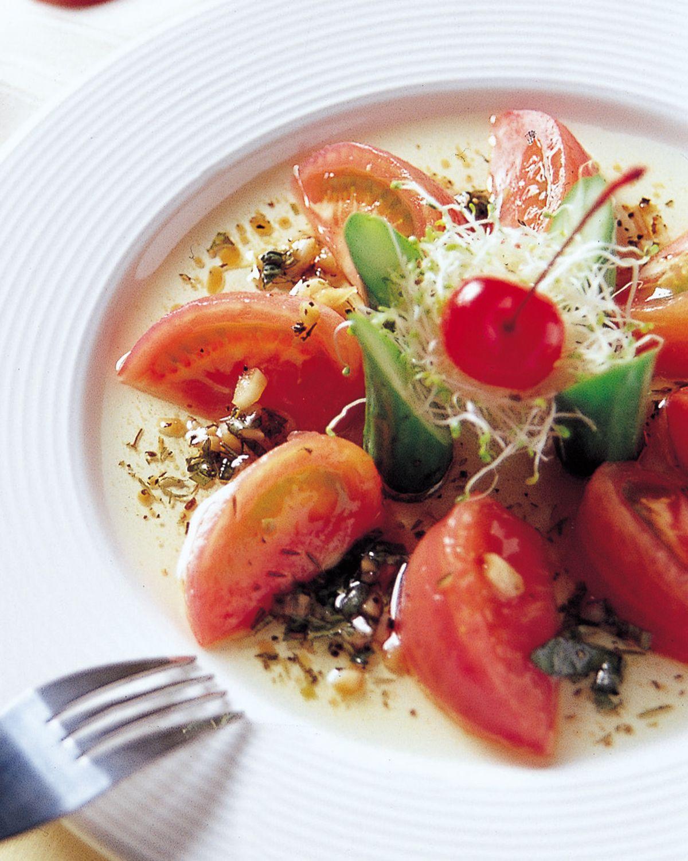 食譜:油醋番茄