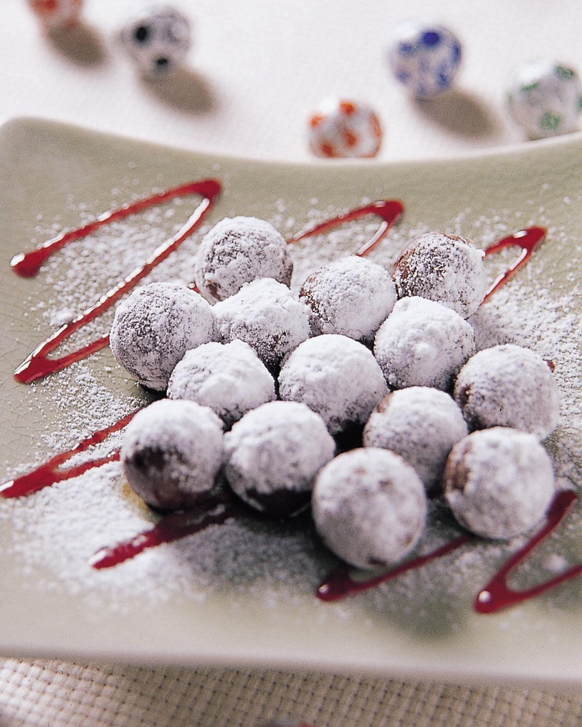 食譜:雪花巧克力球