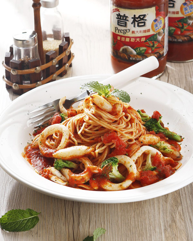食譜:蕃茄海鮮義大利麵(1)
