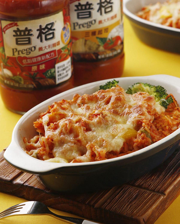 食譜:野菇番茄焗飯