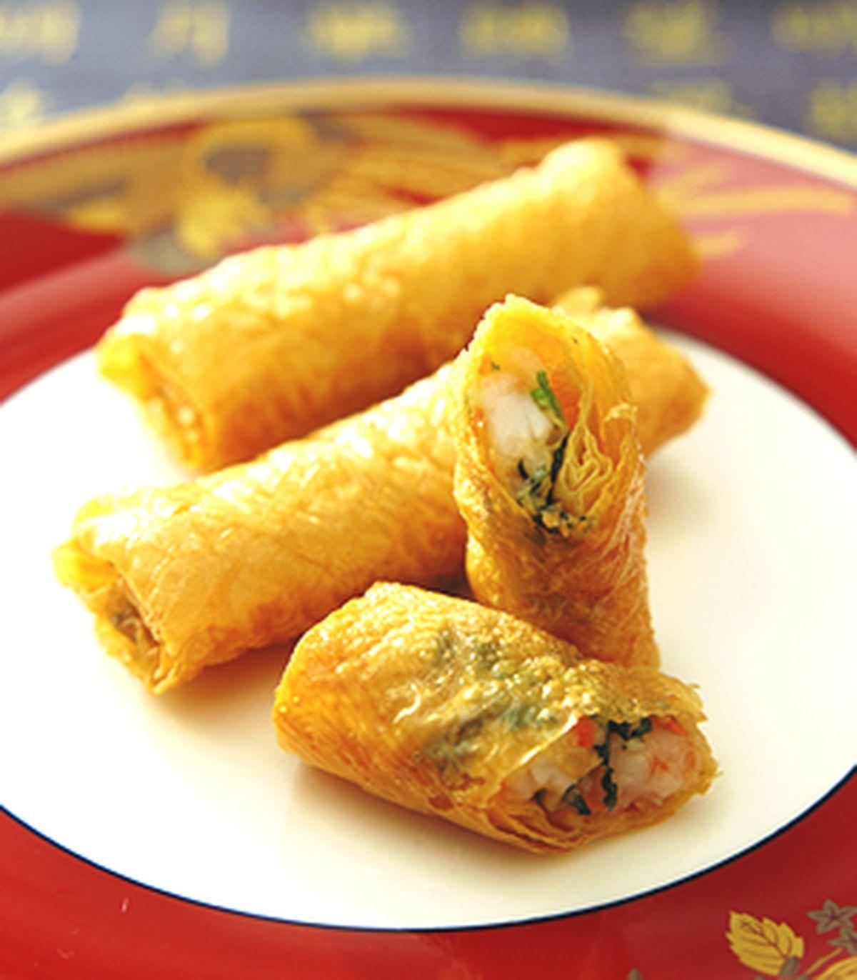 食譜:鮮蝦腐皮卷