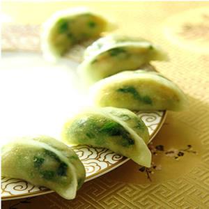 豆苗金菇餃