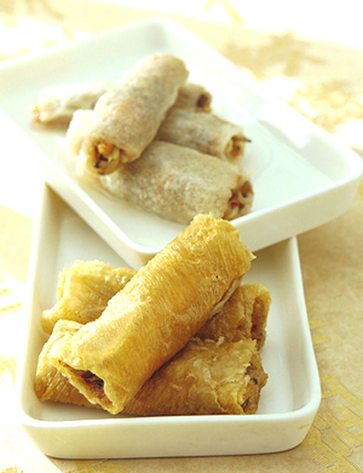 食譜:竹笙鴛鴦卷
