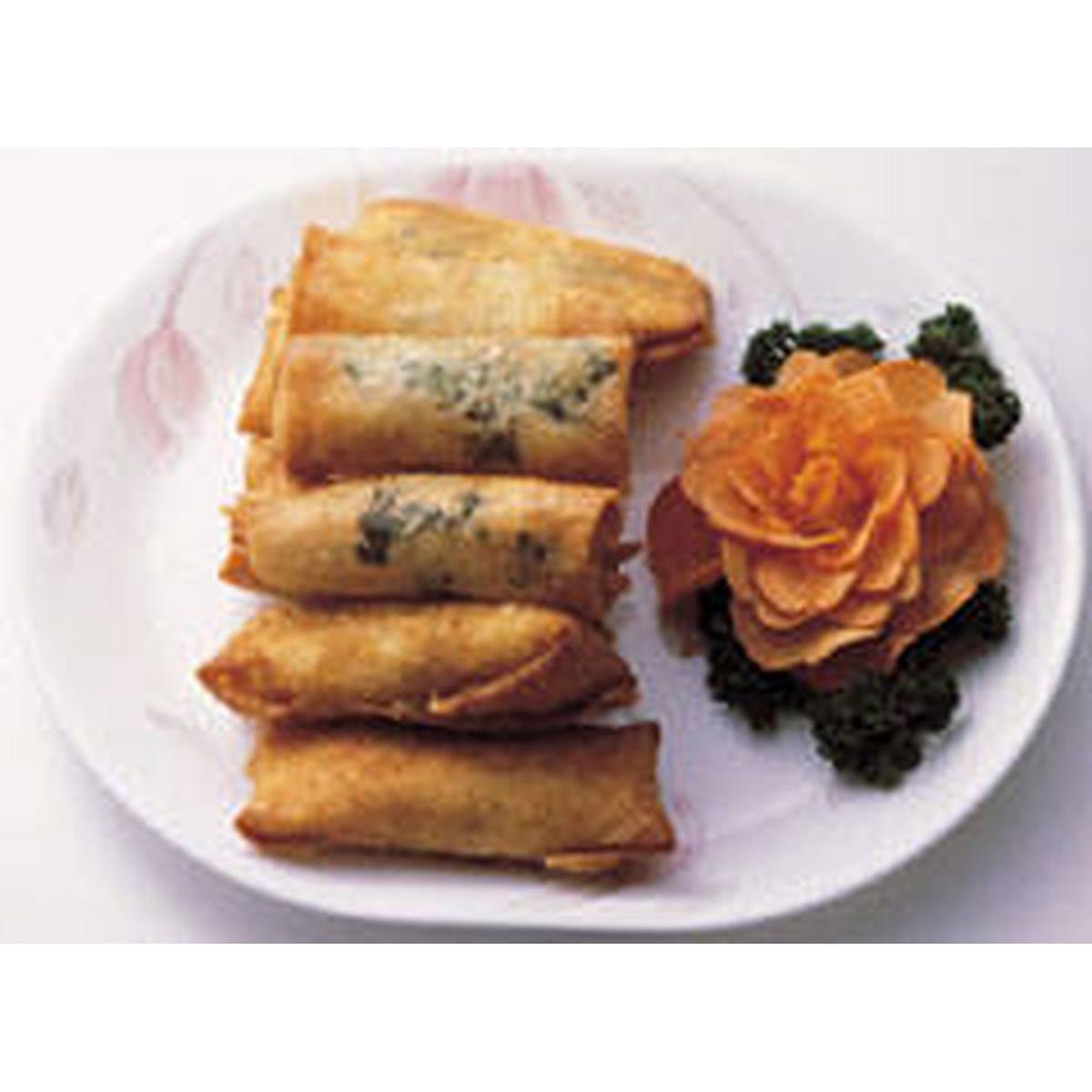 食譜:沙拉海鮮卷