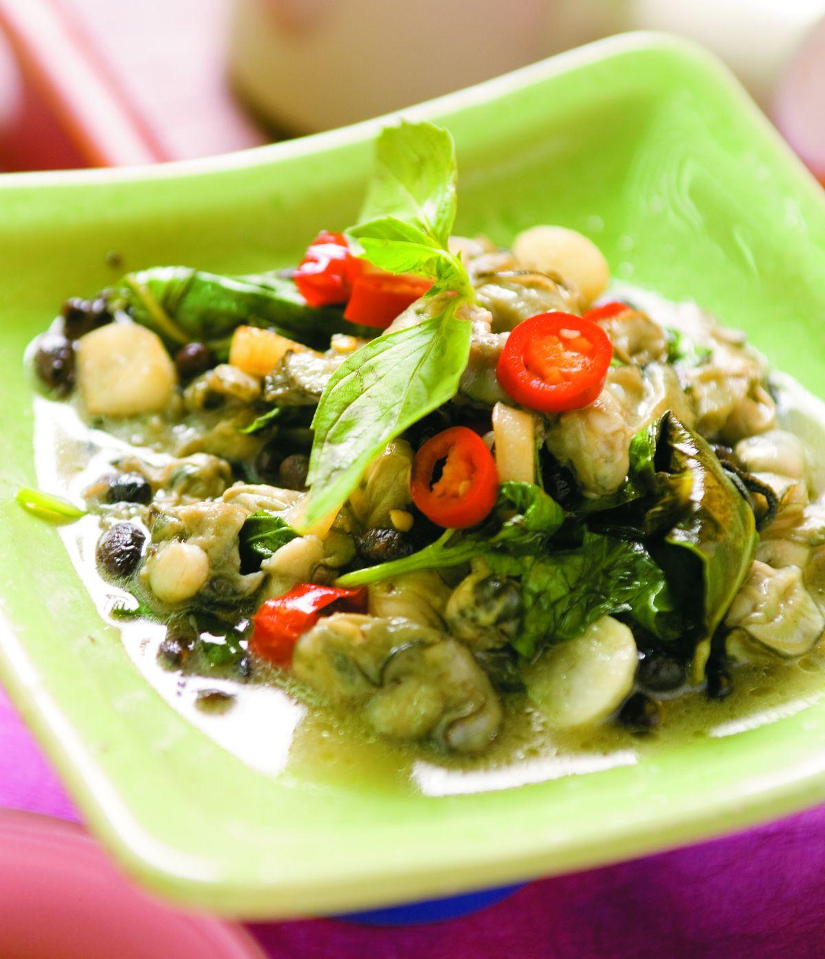 食譜:豆豉蚵仔(1)