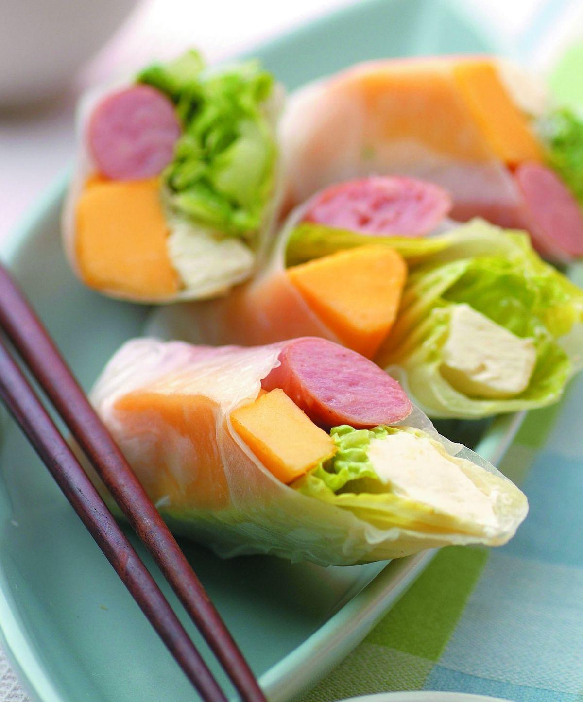 食譜:芒果沙拉春捲