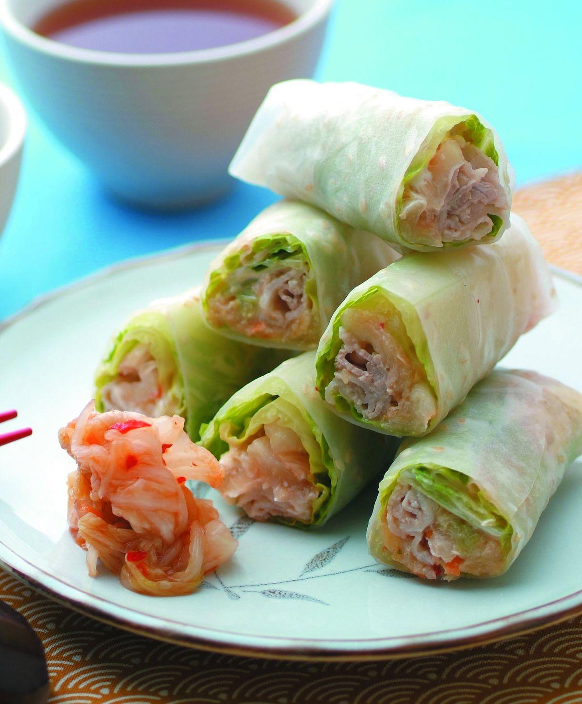 食譜:泡菜沙拉春捲