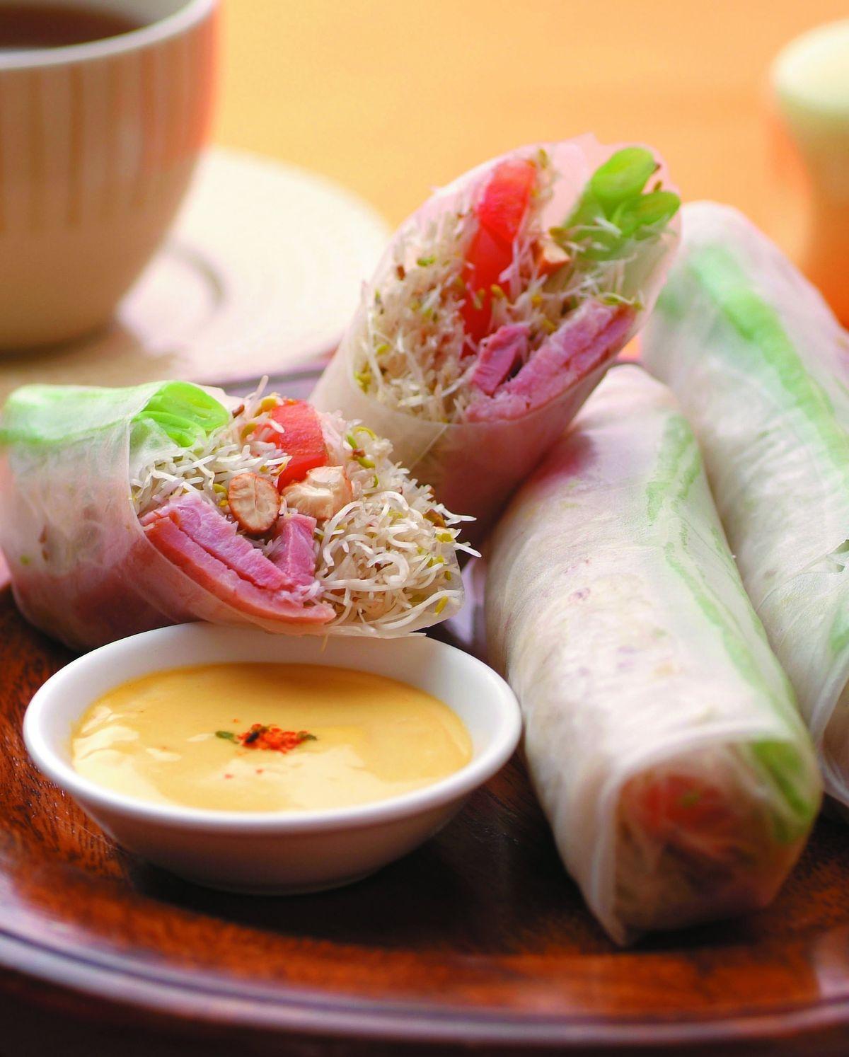 食譜:時蔬沙拉春捲