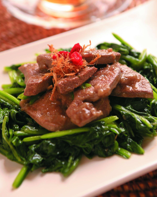 食譜:波菜炒豬肝