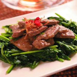 波菜炒豬肝