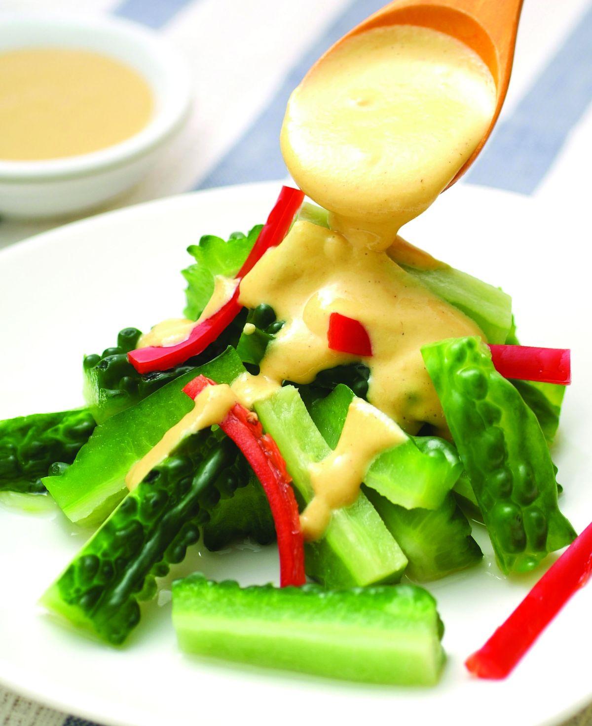 食譜:黃芥末拌山苦瓜