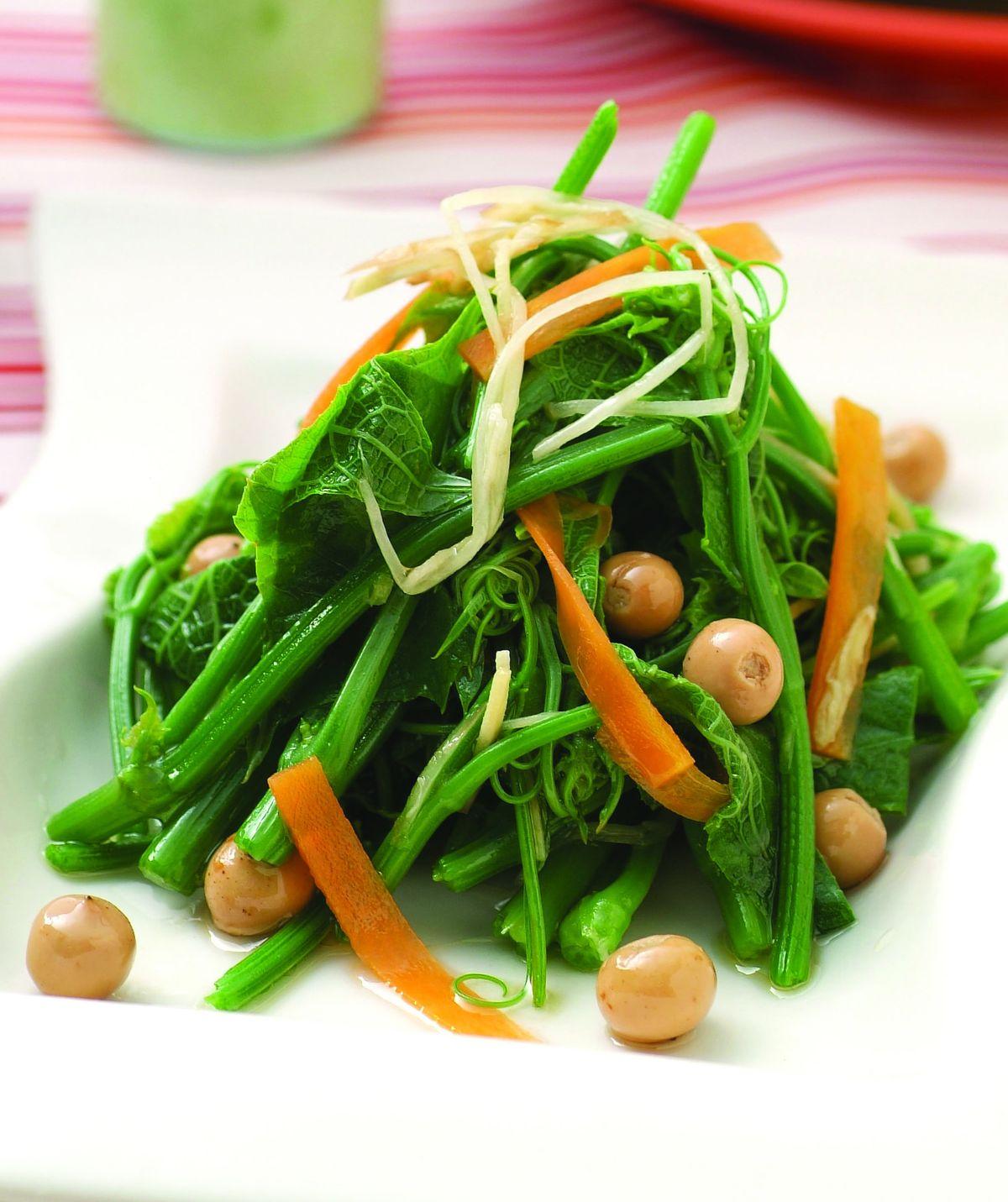 食譜:破布子龍鬚菜