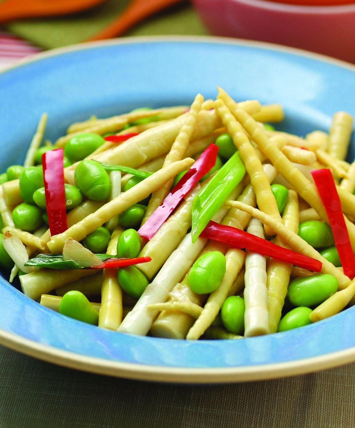 食譜:劍筍炒蠶豆仁