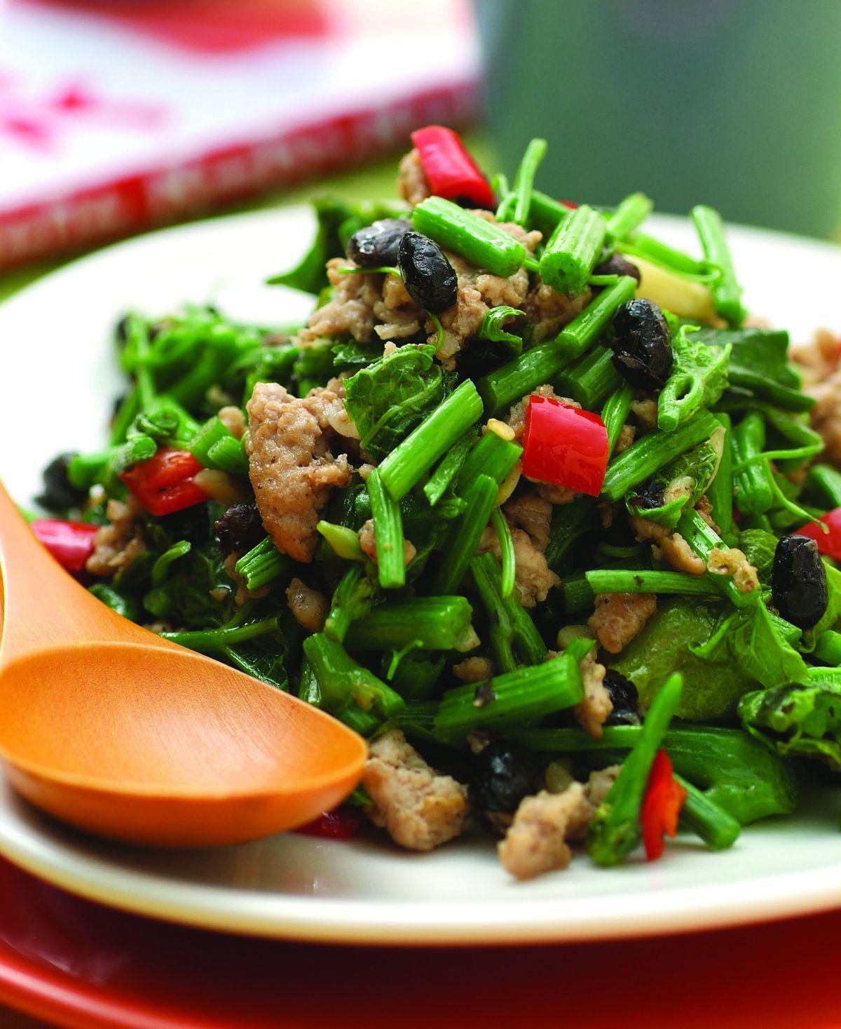 食譜:龍鬚菜炒蒼蠅頭