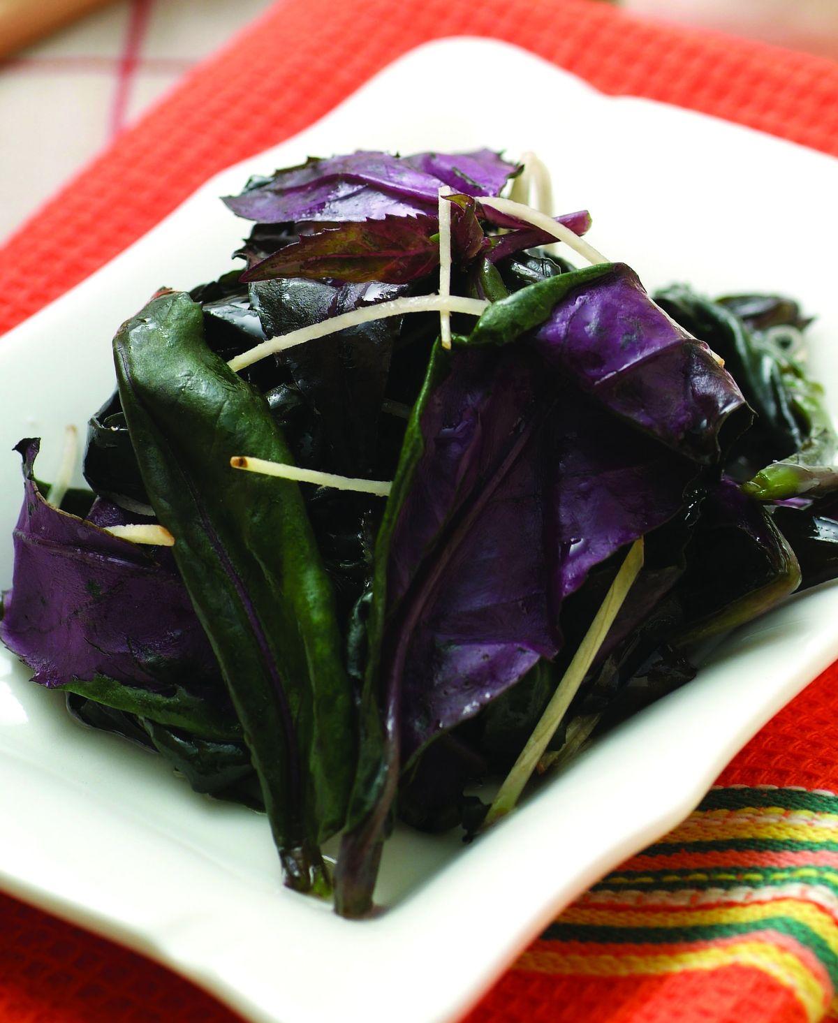 食譜:薑絲清炒紅鳳菜
