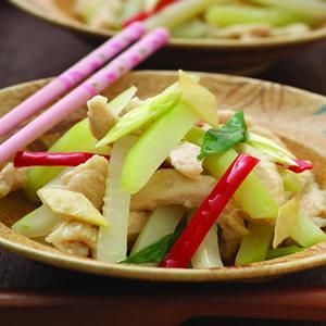 青木瓜炒雞柳