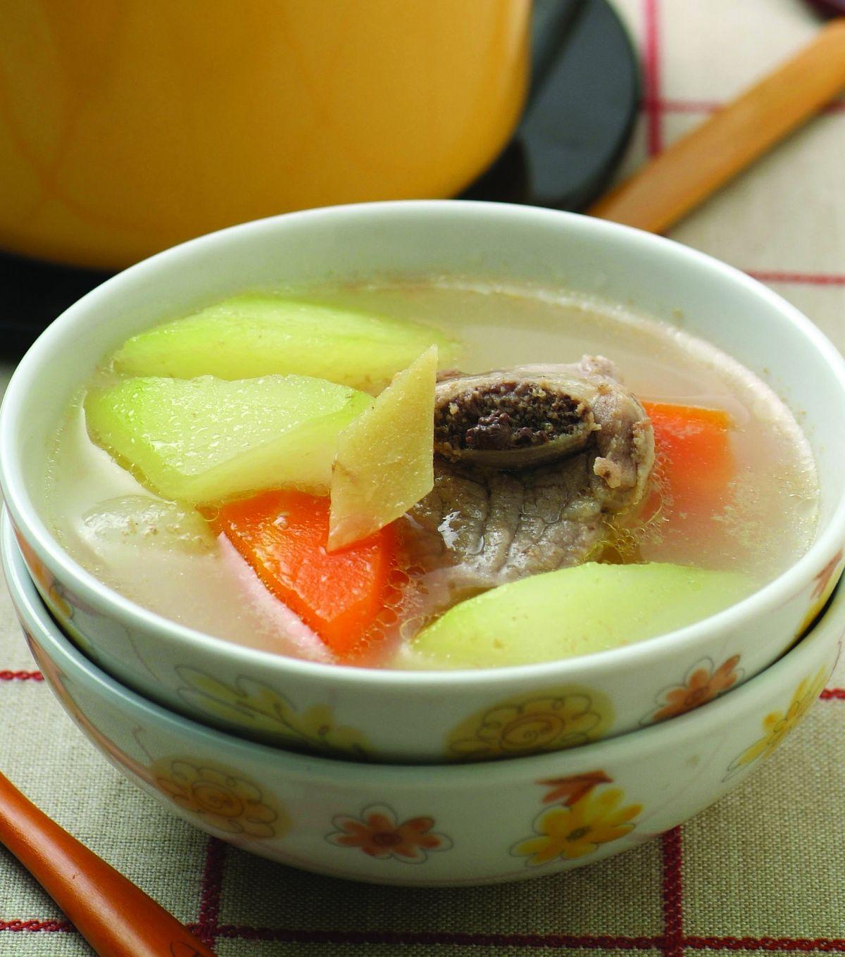 食譜:青木瓜蘿蔔排骨湯