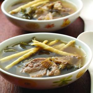 劍筍梅乾肉片湯