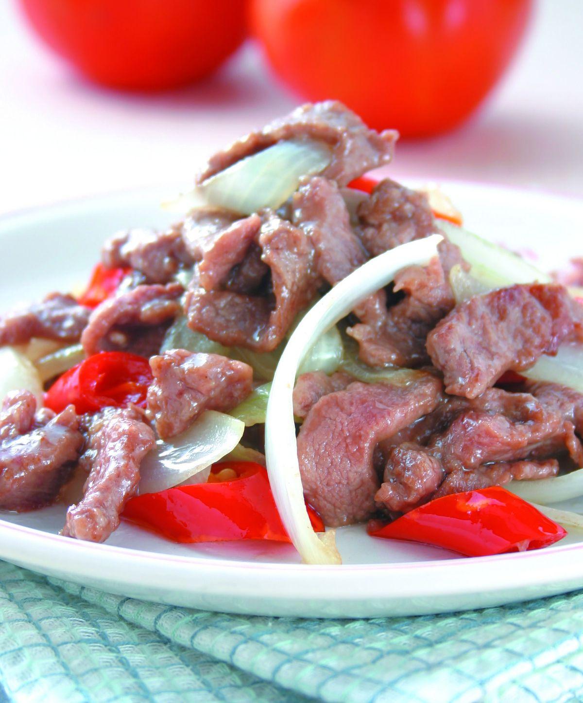 食譜:洋蔥炒肉絲(1)