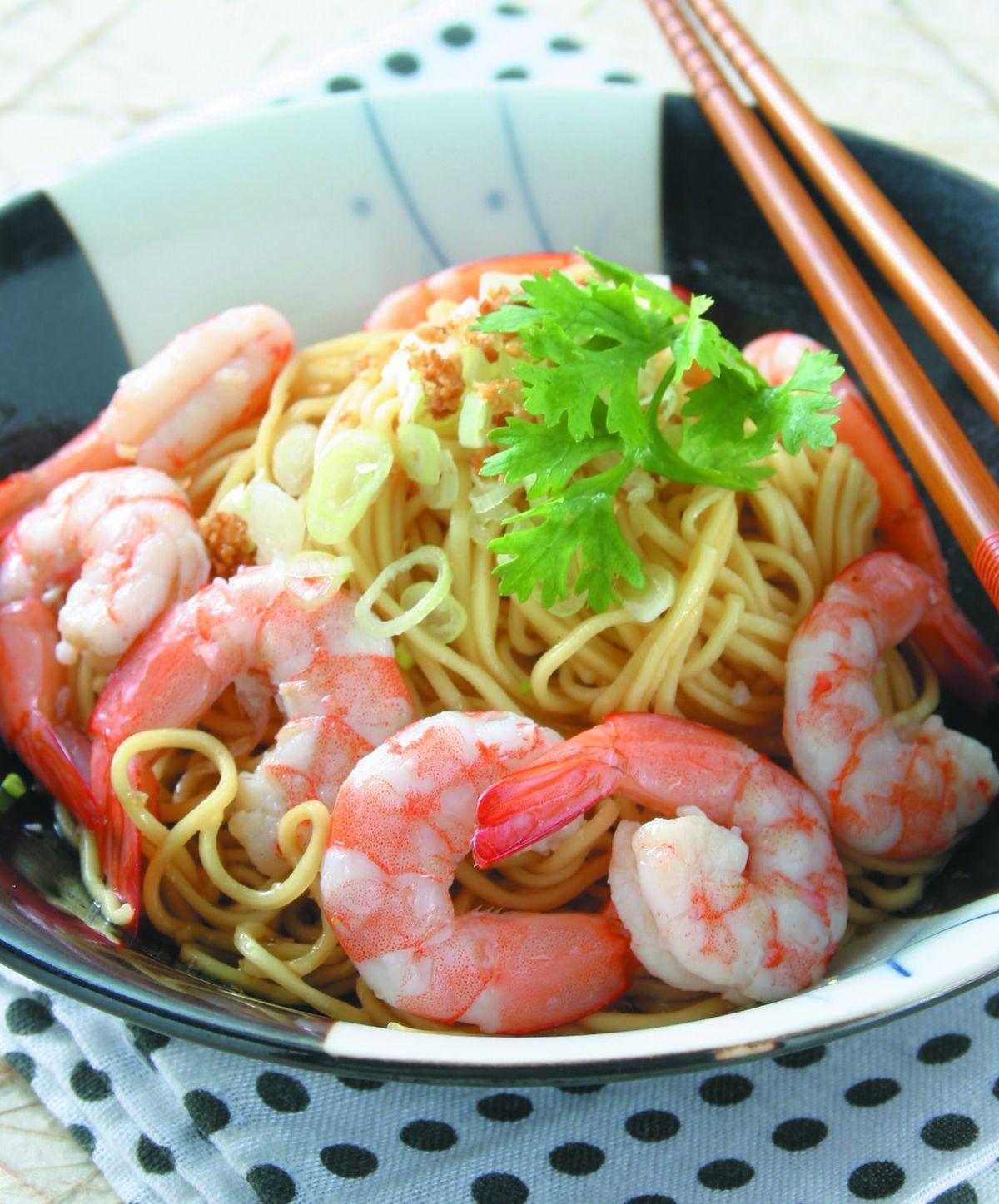 食譜:蝦仁撈麵
