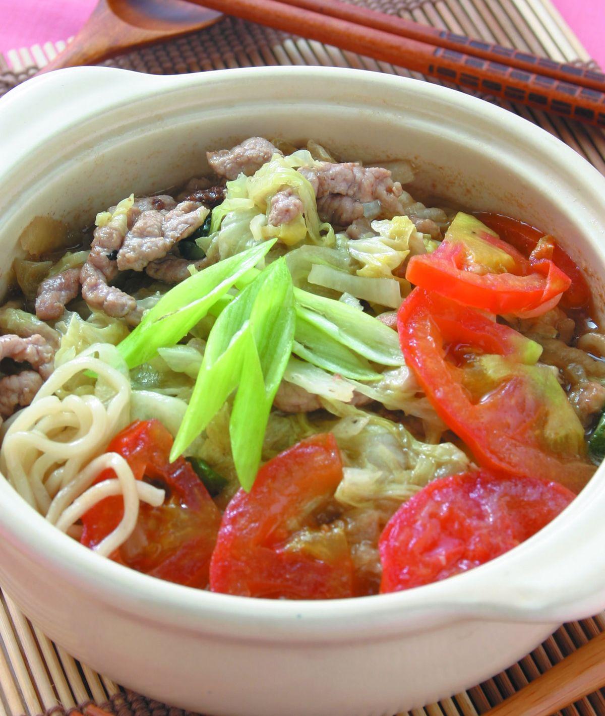 食譜:肉絲嗆鍋麵