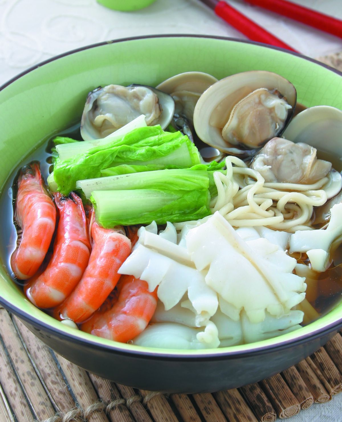食譜:三鮮湯麵