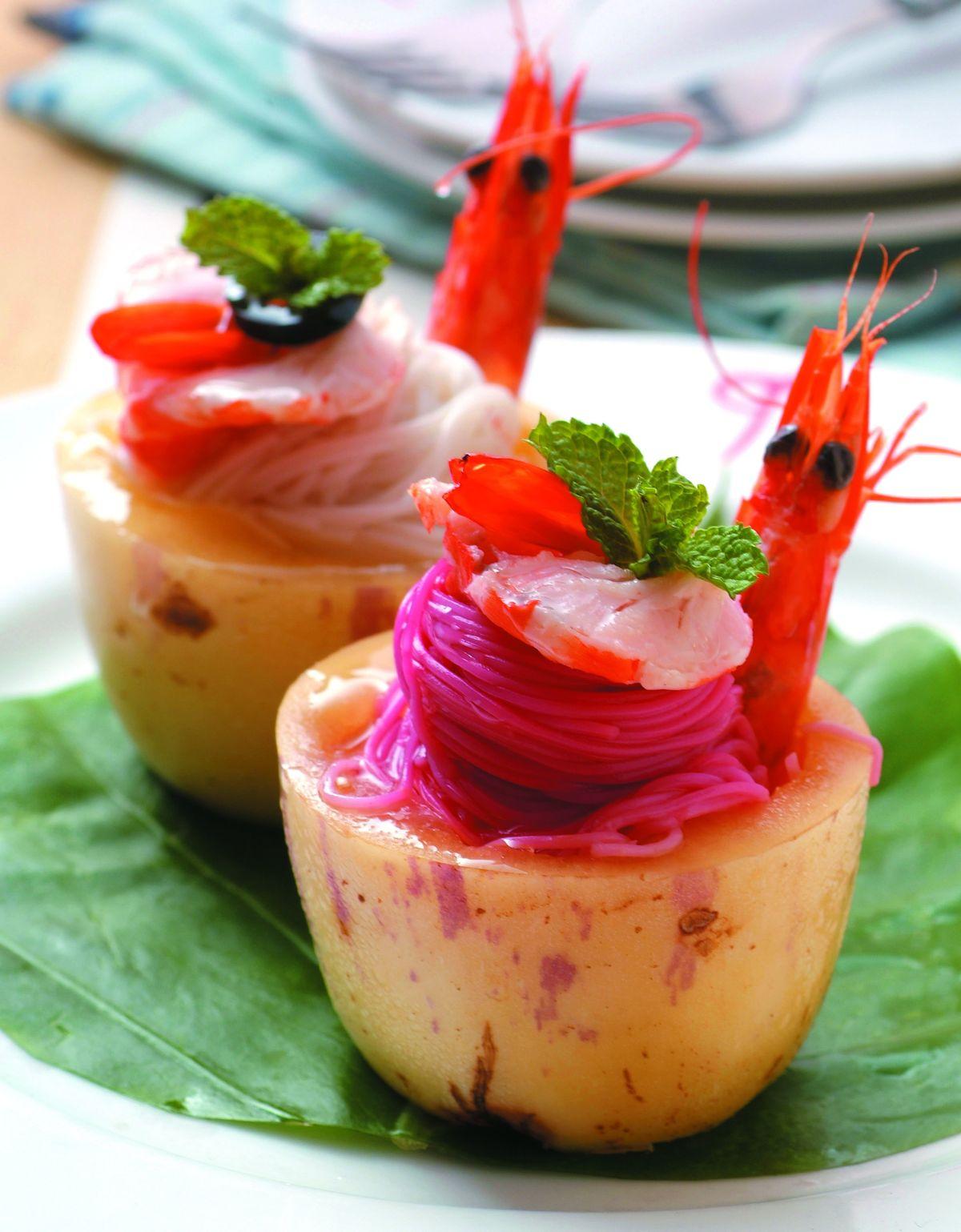 食譜:水果蝦楊梅麵