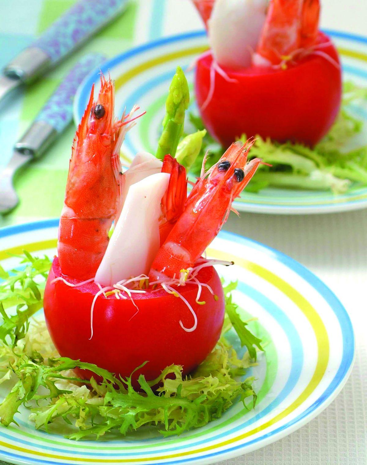 食譜:艷紅海鮮盅