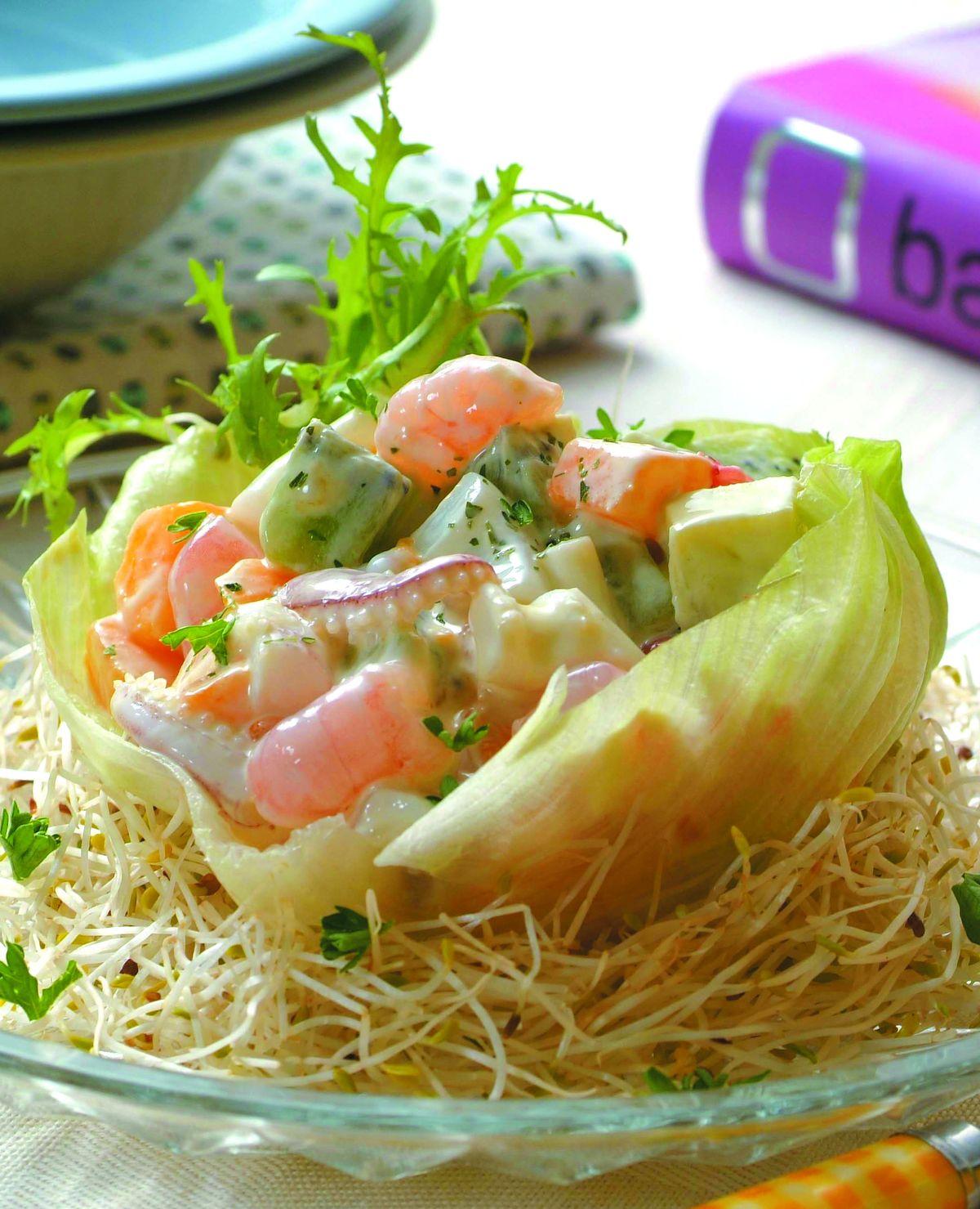 食譜:水果海鮮沙拉盞