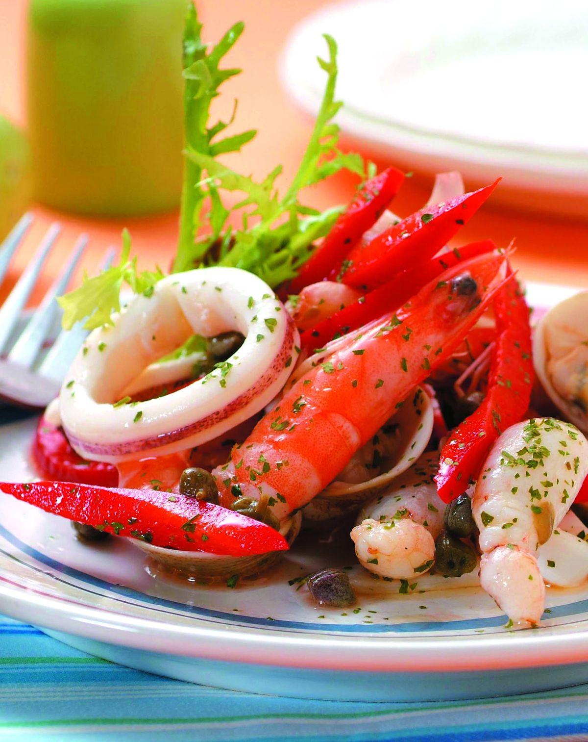 食譜:義式海鮮沙拉