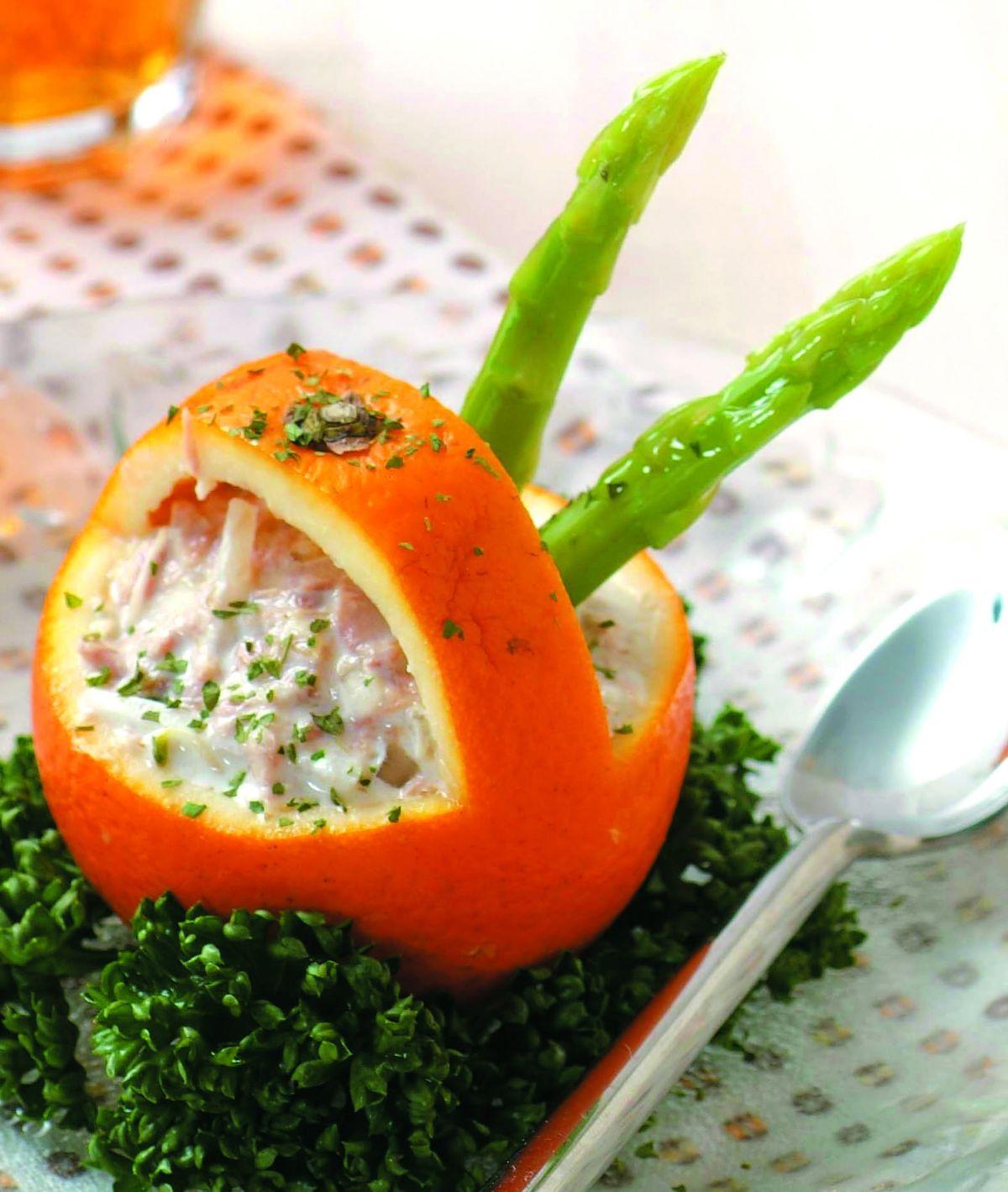 食譜:鮪魚柳橙盅