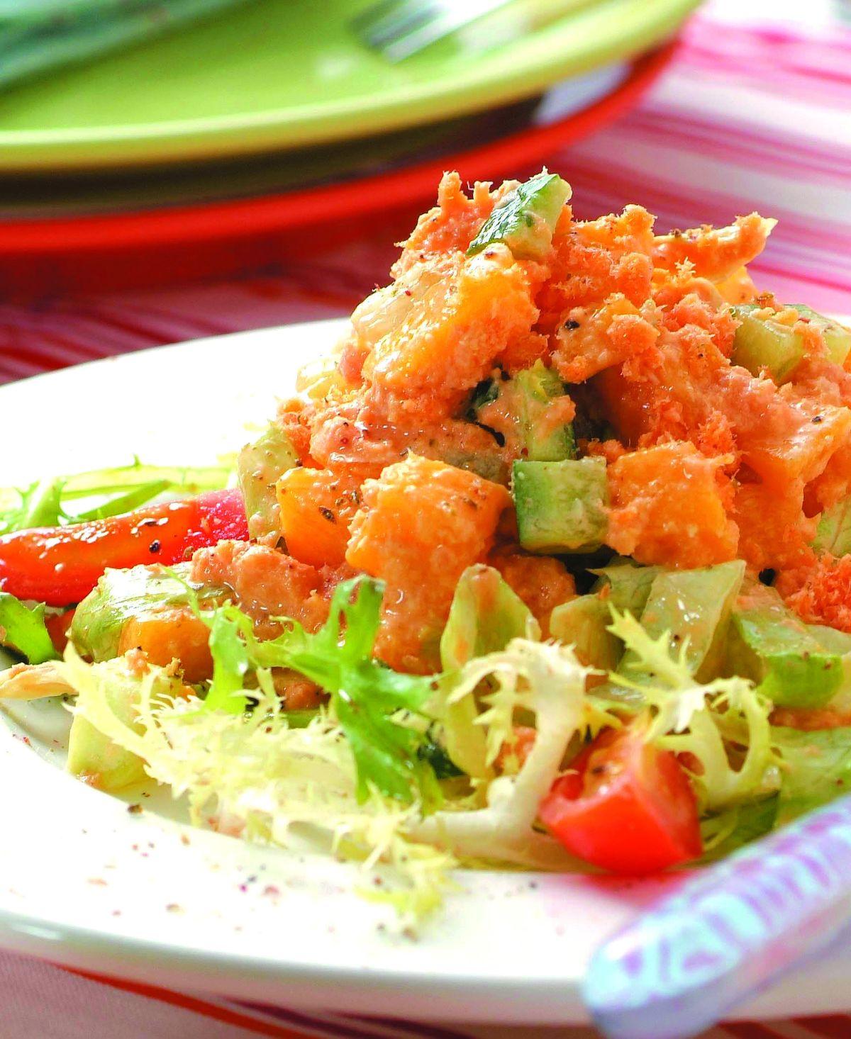 食譜:芒果鮭魚沙拉