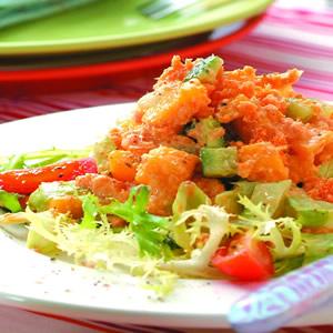 芒果鮭魚沙拉