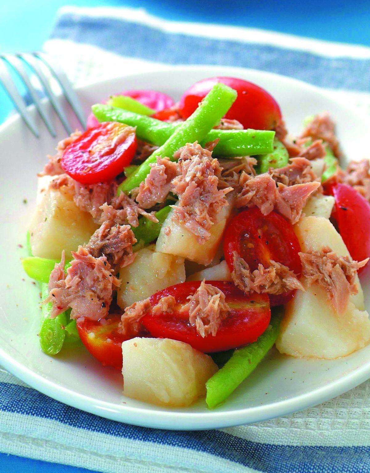 食譜:義式鮪魚四季豆沙拉