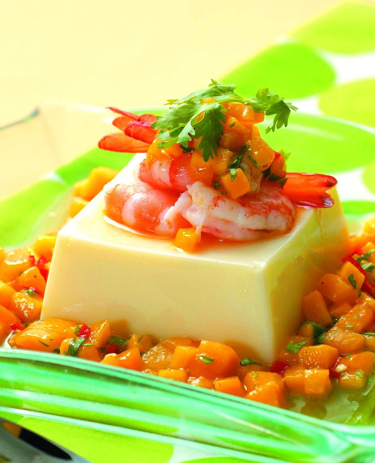 食譜:香芒鮮蝦豆腐