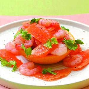涼拌蝦仁葡萄柚