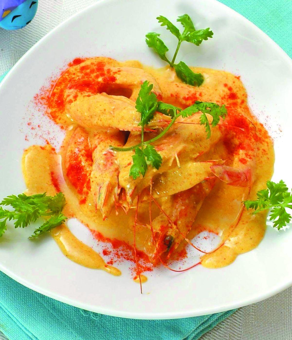 食譜:優格咖哩蝦