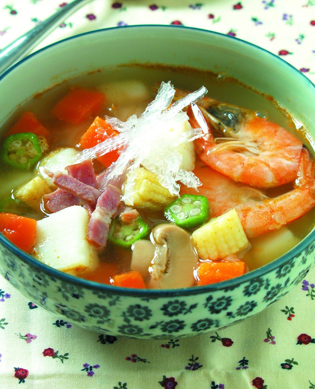 食譜:寒天蘑菇湯