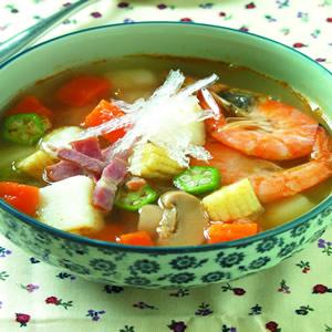 寒天蘑菇湯