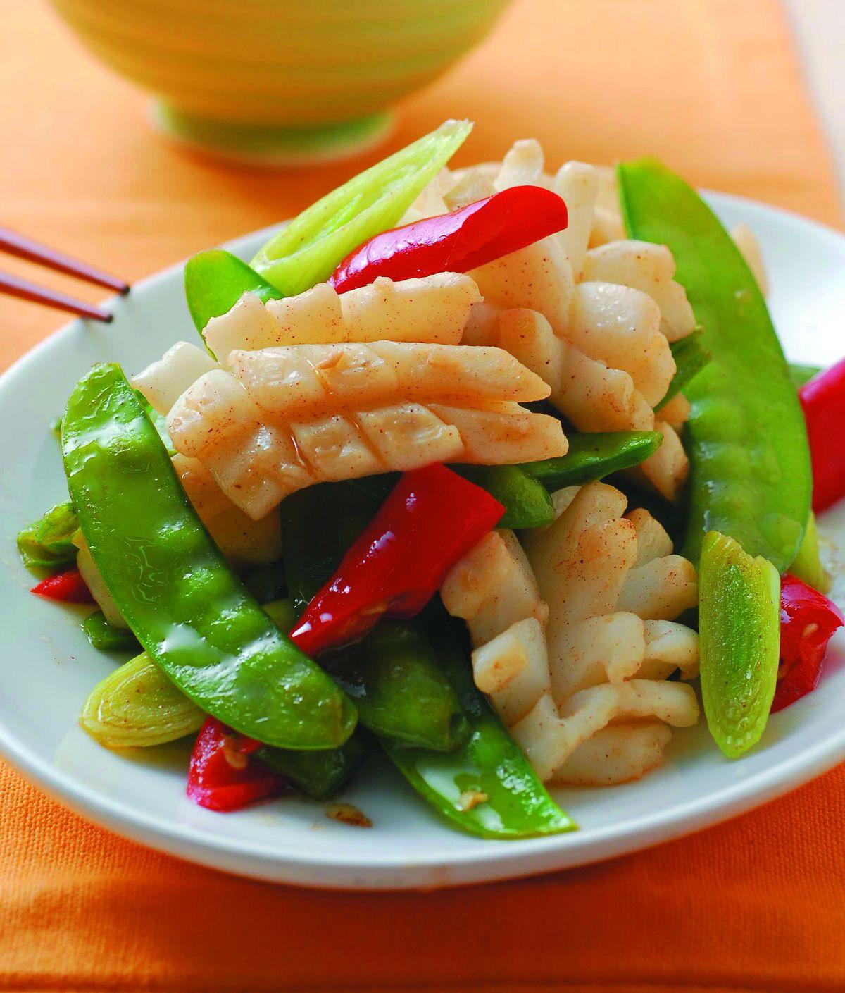 食譜:豌豆炒花枝