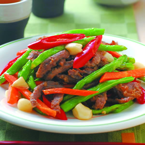 四季豆炒牛肉絲