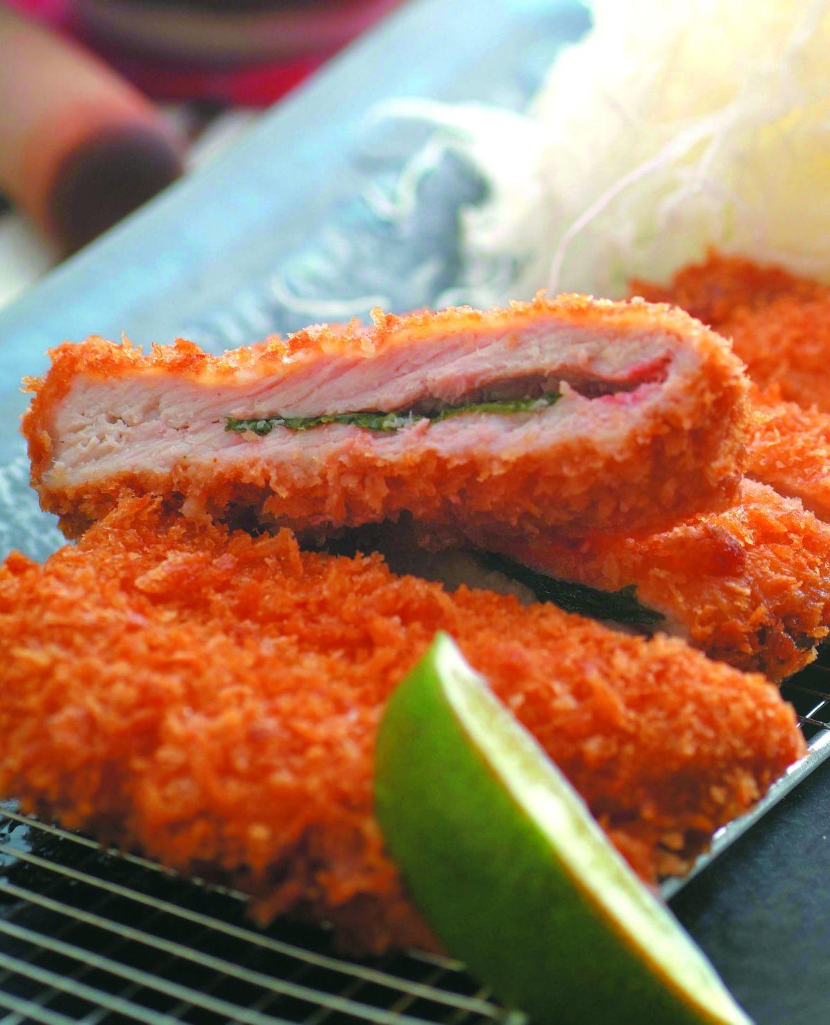 食譜:紫蘇梅肉醬里肌肉豬排
